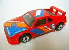 Matchbox 1-75 Super Fast 52d bmw m1 pre-pro rojo con estampados/Decals