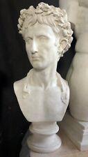 Octavian Augustus Roman Emperor Sculpture bust Museum Replica Reproduction