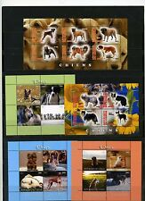 CONGO 2011,2013 FAUNA DOGS 5 SHEETS OF 4 & 6 STAMPS MNH