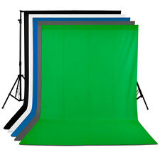 Neewer 5 Pcs (White/Black/Blue/Grey/Green) 6x9ft Studio Backdrops Background Kit