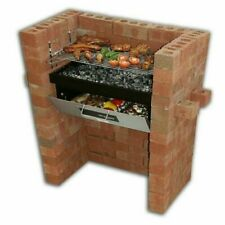 Built In Grill &Oven Brick Stone BBQ DIY Kit Charcoal Outdoor Barbecue garden UK