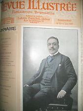 REVUE ILLUSTRéE GRAVURES ART THEATRE LITTERATURE RELIURE 12 N° 1er SEMESTRE 1903