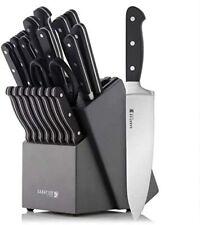 Sabatier Sharpening Edgekeeper Pro 21-Piece Forged Triple Rivet Knife Block Set