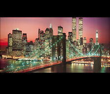 New York Cityscape Wall Art Decor Framed New York City Skyline Brooklyn Bridge