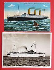 2 x AK Hamburg Amerika Linie 1912/38 Riesendampfer Imperator und Cobra   ( 18973
