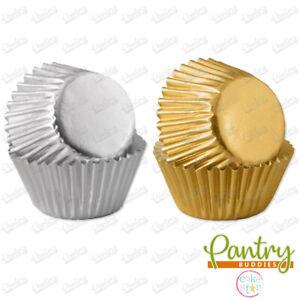 Culpitt Mini Baking Cases Metallic Gold / Silver Cupcake Baking Case Pack 60
