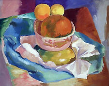 "California Oil Painting PETER KRASNOW 'Fruit Still Life, 15"" x 18"""