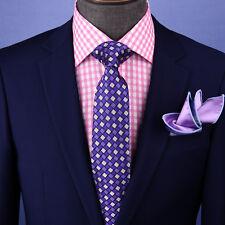 "Purple Check 3"" Italian Necktie Business Formal Elegance For Smart Men's Ego"