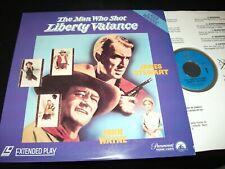 "THE MAN WHO SHOT LIBERTY VALANCE<>JOHN WAYNE<>12"" Laserdisc<>PARAMOUNT LV6114"
