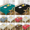 Wipe Clean Jacquard Tablecloth Cover Round Rectangle Table Cover Party Tableware