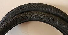 New pair 20 x 1.95 iso 50 - 406 black Kenda BMX bicycle tires tubes rim strips