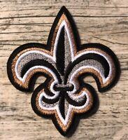 """New Orleans Saints Iron Sew On Logo Patch 2"""" Fleur De Lis Brees Champions Logo"""
