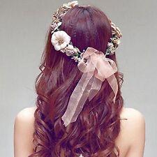 Flower Floral Hairband Headband Crown Party Bride Wedding Hair Wreaths