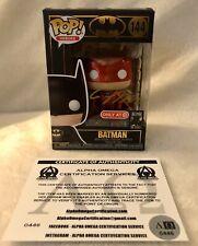 DC Heroes Metallic *RED SUIT BATMAN* POP #144 Target Exclusive Signed By Jim Lee