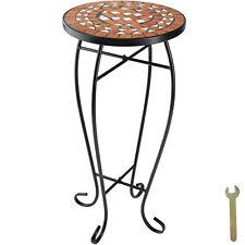 Table de Balcon Tabouret à Fleurs Mosaïque Jardin Terasse Table d'appoint Terre