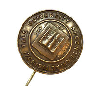 RARE Antique 1901 Yale University Bicentennial Stick Pin - Vintage Coin Button