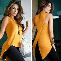 New!Fashion Women's Lady Summer Sleeveless Slim Blouse Casual Shirt Tops T-Shirt