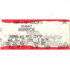 Queensryche Concert Ticket Stub Las Vegas 10/9/91 Nevada Rare Building Empires