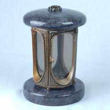 Grablampe Granit Grablaterne Grableuchte Friedhofslaterne Grabschmuck Grablicht