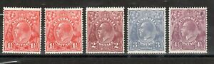 Australia 1926-30 Sidehead values to 4d MNH