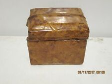 Balos 1980 VINTAGE Leather Trinket/JEWLRY Box Made in Philippines-FREE SHIP NEW