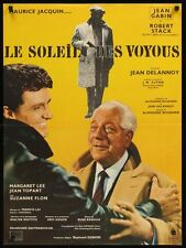 Le SOLEIL DES VOYOUS French movie poster JEAN GABIN ROBERT STACK 1967
