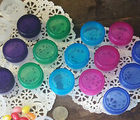 12 NEW SIZE 1/3 ounce 2 tsp Container cosmetic beauty jars Multi Lids Caps 3801