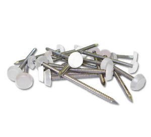 Plastic Headed Pins Plastic Top Nail White Pack of 25 BRAND NEW