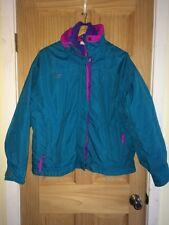 Vtg 80s 90s COLUMBIA Women's BUGABOO Aqua Purple SKI Coat Jacket Sz XL EUC pl