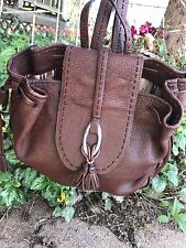 BRIGHTON RUSTY LEATHER SHOULDER BAG BACKPACK MULTI COMPARTMENT ORGANIZER PURSE *
