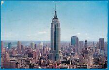 vintage ansichtkaart USA, Uptown Skyline New York 1963