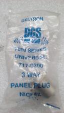 LOTE DE 2 CONECTOR XLR 3 PIN MACHO BASE CHASIS DELTRON 717-0300
