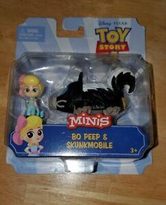 Disney Pixar Toy Story 4 Minis:  BO PEEP & SKUNKMOBILE NIP!
