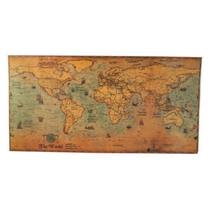 72*36cm World Map Journal Poster Retro World Personalized Poster DecorationY.bl