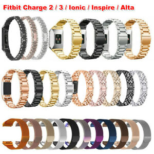 For Fitbit Charge 4 3 2 Ionic Inspire Versa 2 Replacement Metal Watch Band Strap