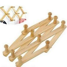 Expandable Wood Wall Racks for Coats, Hats, Mugs - Up to 30 Inches -1 Pack G