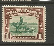 NORTH BORNEO  1939  1c  PICTORIAL  MLH   SG 303