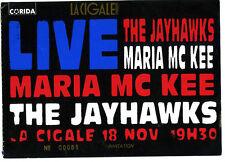 THE JAYHAWKS MARIA MC KEE  ticket la cigale paris 1993