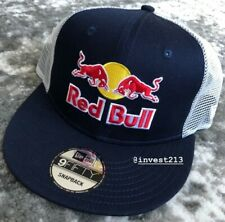 RED BULL  ATHLETE ONLY TRUCKER HAT - BLUE/WHITE SNAPBACK CAP RARE