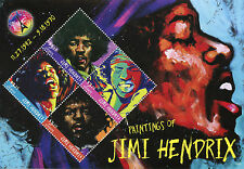 Grenade 2016 neuf sans charnière peintures de Jimi Hendrix 4 V M/S Music Célébrités timbres