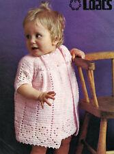 BABY EASY CROCHET PATTERN DRESS & COAT 18 TO 20 INCH (1549)