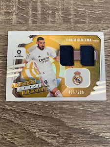 2020-21 Absolute Soccer Karim Benzema Tools of The Trade Jersey Card Madrid /500