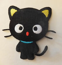 BLACK CAT PATCH, very cute; SEW-ON / IRON-ON **BN** embroidered