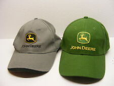 Grey and Green John Deere Lot of 2 HATS