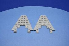 LEGO 2 x Keil Flügel Platte althell grau 8x8 3x4 Ausschnitt Boot Bug 6104