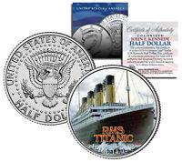 "RMS Titanic Ship ""Anniversary"" Official JFK Kennedy Half Dollar US"