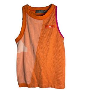 adidas Stella McCartney Barricade Athletic Tank Top Women's M Tennis Orange Pink