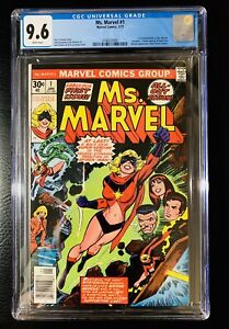 MS MARVEL #1 CGC 9.6 ❄️ WHITE PAGES 1ST CAROL DANVERS! 1/77 SCARCE!! ONE OWNER!!