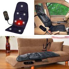 DC 12V Back Massage Chair Heat Seat /Cushion Neck Pain Lumbar Support Pads Car