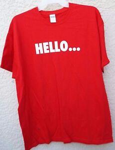 Gildan Ladies Red Short Sleeve T-Shirt HELLO...Power Ball Missouri Size XL